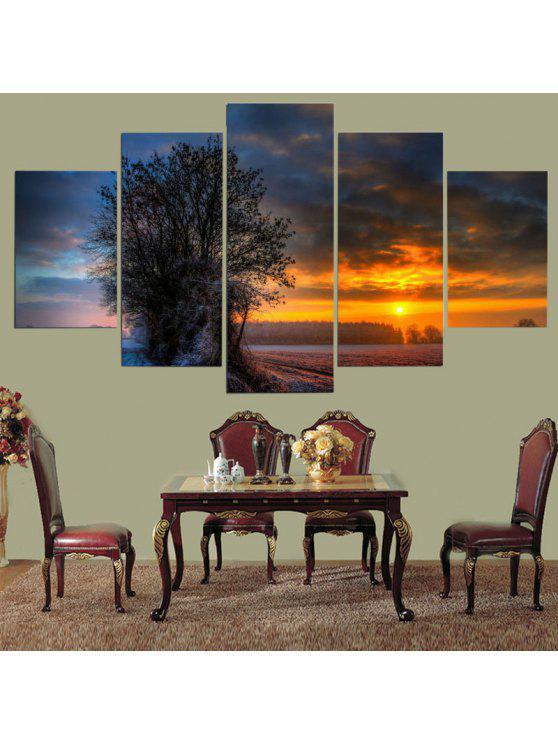 Island Sunset Pattern Home Art Decor Cuadros Sin Marco De La Lona ...