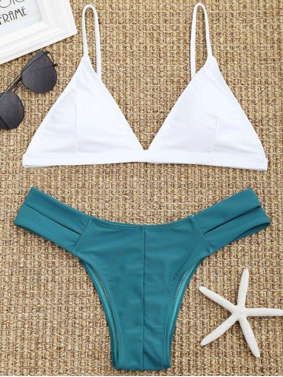 affordable Cutout Pad Bikini Set - WHITE L
