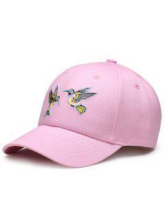 Sombrero De Béisbol Ajustable Del Bordado De Los Pájaros Del Vuelo - Papaya