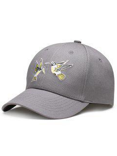 Sombrero De Béisbol Ajustable Del Bordado De Los Pájaros Del Vuelo - Gris