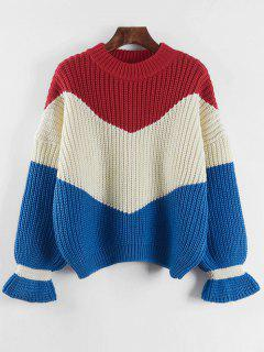 Contrast Chunky Sweater - Off-white