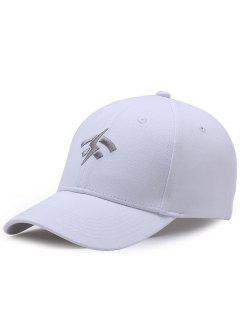 Funny Lightning Wifi Pattern Adjustable Baseball Cap - White