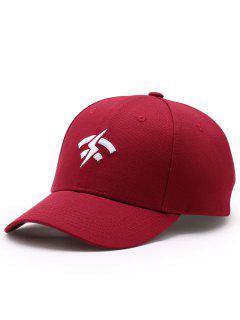 Funny Lightning Wifi Pattern Adjustable Baseball Cap - Wine Red