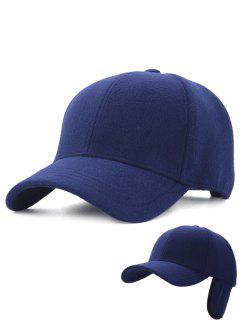 Sombrero De Caza Bordado De Línea Al Aire Libre Espesar Orejeras - Azul Zafiro