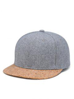 Hip Hop Style Ajustable Baseball Cap - Light Grey