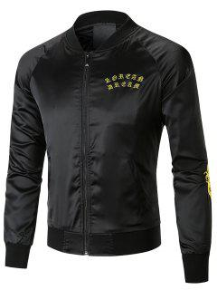 Dragon Embroidered Cool Bomber Jacket - Black Xl