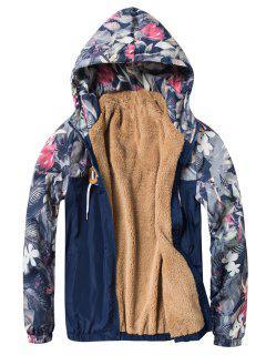 Veste Zippée à Imprimé Floral Florals Panel - Bleu Cadette L