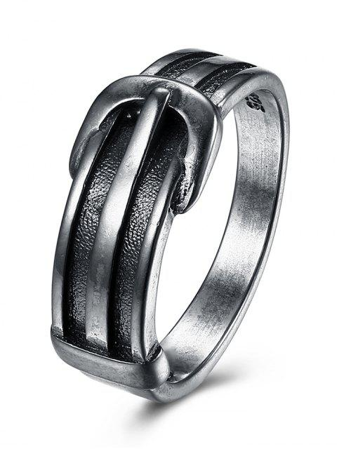 trendy Unique Belt Ring - SILVER 9 Mobile
