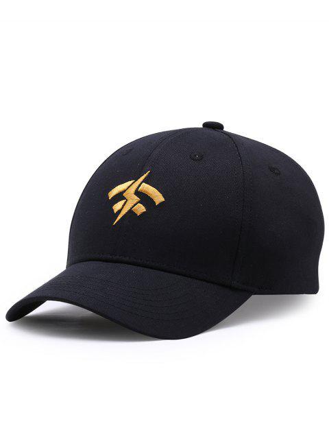 Chapeau de Baseball Réglable avec Broderie de Foudre Wifi - Noir  Mobile