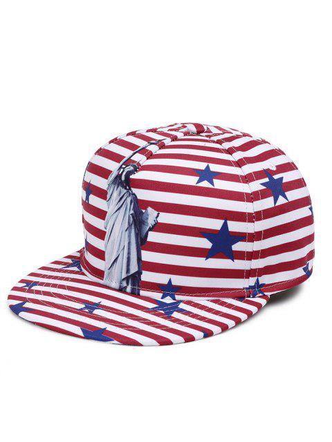 Freiheitsstatue-Muster verzierter justierbarer grafischer Hut - Rot  Mobile