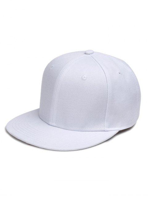 shops Line Embroidered Flat Baseball Cap - WHITE  Mobile
