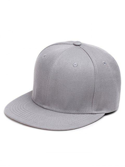 chic Line Embroidered Flat Baseball Cap - GRAY  Mobile