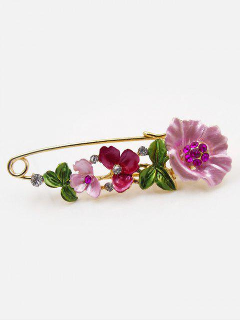 buy Flower Fake Diamond Brooch Pin - TUTTI FRUTTI  Mobile