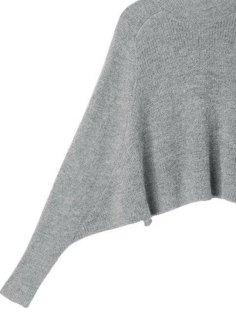 Suéter Liso com Manga Dólmã - Cinzento Um Tamanho Mobile