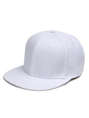 Line Embroidered Flat Baseball Cap
