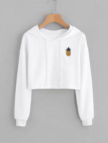 Geerntete Ananas Patches Hoodie - Weiß Xl