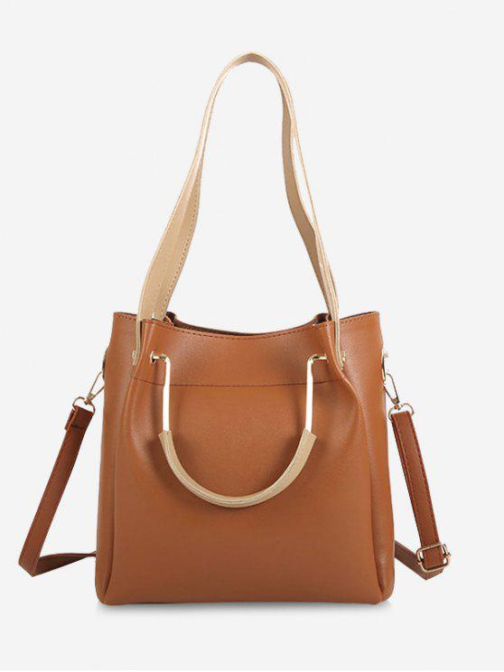 2018 Faux Leather Multi Function Shoulder Bag In LIGHT BROWN  6663f946c5b06