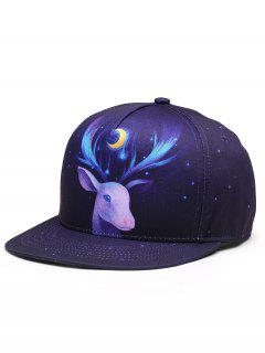 3D Sheep Pattern Adjustable Baseball Cap - Blue