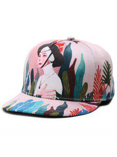 Vintage Lady Pattern Decoration Baseball Cap - Papaya