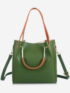 Faux Leather Multi Function Shoulder Bag - Green