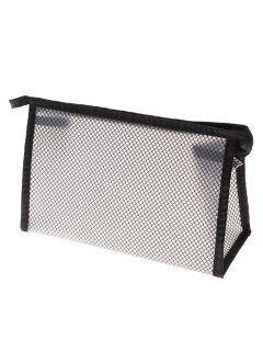 Mesh EVA Cosmetic Waterproof Makeup Bag - Black