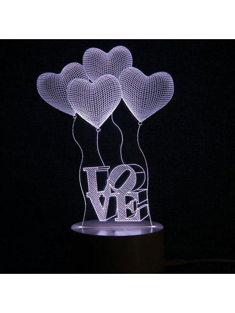 online Mothers Day Valentine Heart Ballon Love Confession Gifts Night Light - TRANSPARENT  Mobile