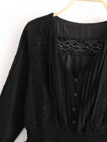 Vestido Encaje L Volantes De Negro Volantes Con De Mini xOqdEwfx