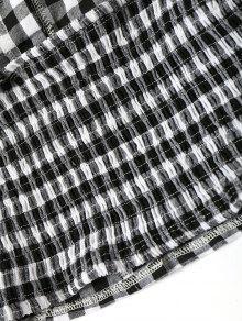 Pantalones Cortos Plaid Ruffles Top L Comprobado Smoked Y w5XIqx8nR