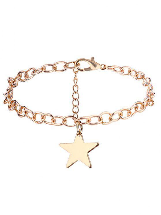 Pulsera de cadena de aleación de estrella de Alloy - Dorado