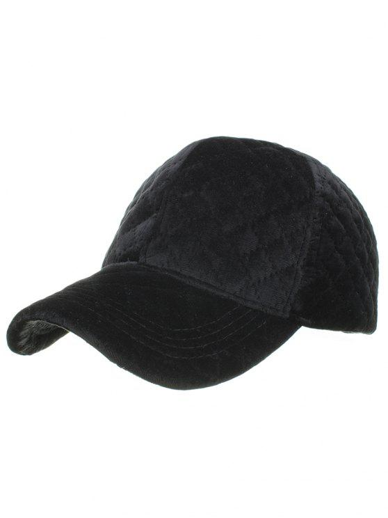 Rhombus Pattern Embroidery Adjustable Baseball Cap Black Hats Zaful