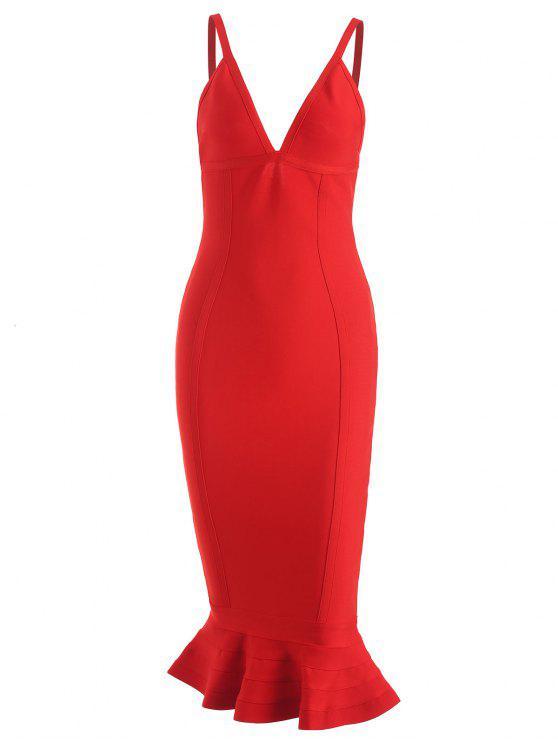 Cami Meerjungfrau Verbandkleid - Rot L