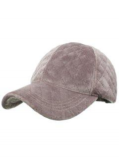 Rhombus Pattern Embroidery Adjustable Baseball Cap - Peony Pink