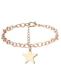 Alloy Star Chain Charm Bracelet - Golden
