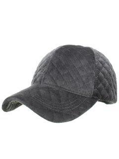 Rhombus Pattern Embroidery Adjustable Baseball Cap - Dark Gray