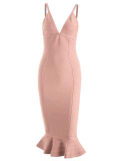 Cami Mermaid Bandage Dress - Pink S