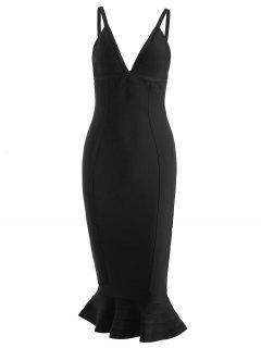 Cami Mermaid Bandage Dress - Black L