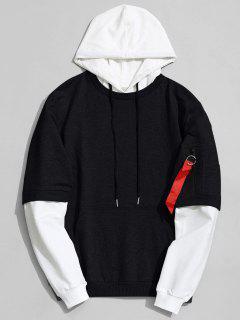 Cotton Two Tone Hoodie - Black L