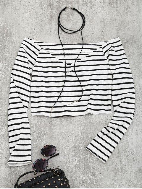 Top de hombro con rayas recortadas - Raya XL Mobile