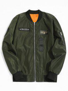 Casaco De Bombom De Patch Gráfico - Verde Xl