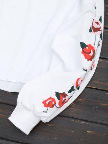 Florales M Con Blanco Paneles Sudadera EYxUBqHU