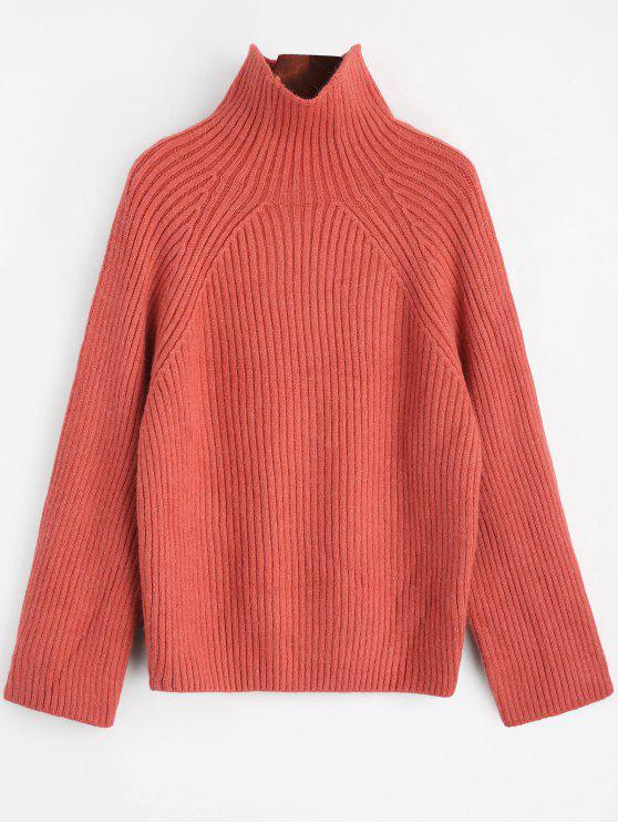 Plain High Neck Sweater RUSSET-RED: Sweaters ONE SIZE | ZAFUL