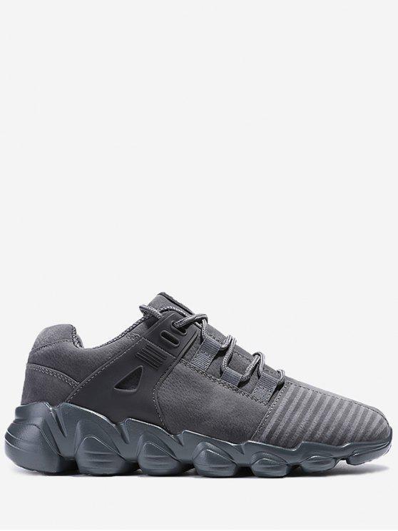 حذاء سنيكرز بأربطة مخطط - اللون الرمادي 43