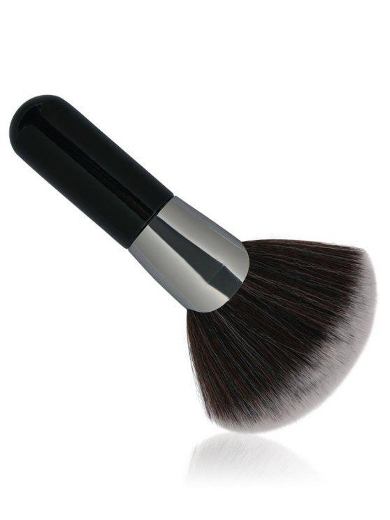 المهنية مروحة على شكل ألياف الشعر فرشاة ماكياج - أسود