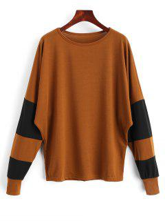 Batwing Two Tone Top - Brown