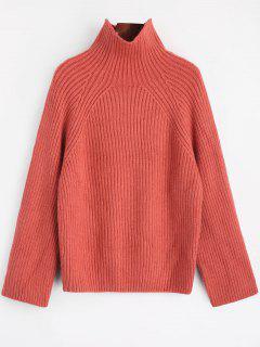 Suéter De Cuello Alto Llano - Castaño-rojo