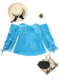 Blusa Con Hombros Descubiertos - Lago Azul Xl