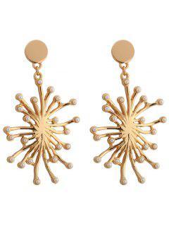 Declaración Faux Pearl Floral Earrings - Dorado