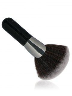 Professional Fan Shaped Fiber Hair Makeup Brush - Black