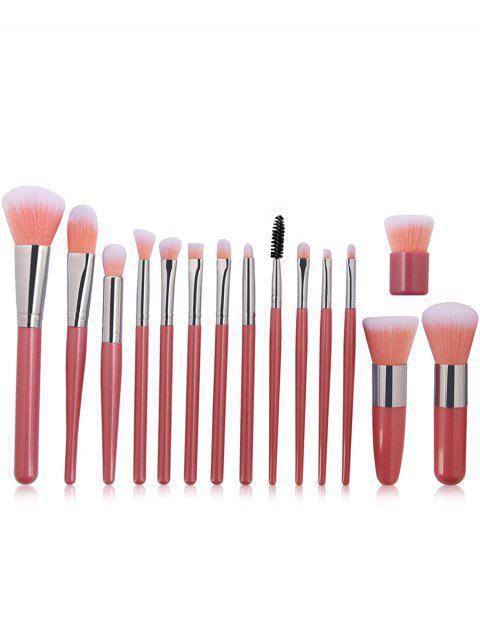 15Pcs ultra weiche Kunstfaser Haar Make-up Pinsel Set - Pink  Mobile