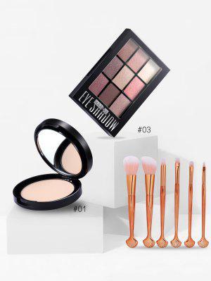 Colección profesional de polvo suelto de sombra de ojos con pincel de maquillaje